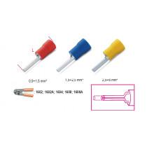 BETA BM00151 Pääteliitin, eristetty, puristettava, tappi 1,8mm, kaapeleille mm² 0,25-1,5. pakkauksessa 100 kpl