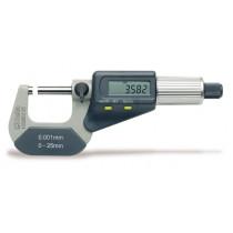 BETA 1658DGT25 digitaalinen ulkomikrometri, lukema 0,001mm. Mitta-alueelle 0÷25mm