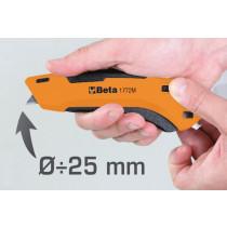 Beta 1772M-SAFETY UTILITY KNIFE, RETRAC.BLADE