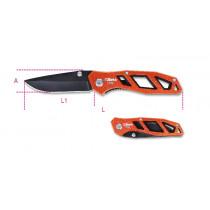 BETA 1778U Foldaway knife, hardened steel blade • in case.