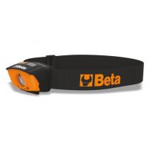 BETA 1836A LED-otsavalo, On/Off ilman kosketusta. Kaksitehoinen 120/65 luumenia. IP54 sisä- ja ulkokäyttöön. Pöly- ja roiskevesisuojattu. Mukana paristot 3 kpl AAA