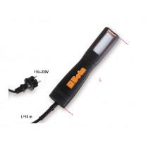 BETA 1842LED/BM roikkavalaisin 100V tai 230V. Kumirungolla, kääntyvällä ripustus koukulla ja kaapelilla 10m. vaihdettava etulasi. Monensuuntainen LED-valo. Teho 340 luumenia