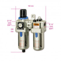 BETA 1919F1/4-FILTER-REGULATOR-LUBRICATOR