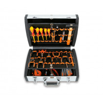 BETA 2033PEL/A Tool cases with assortments of tools for electronic and electrotechnical maintenance.