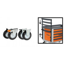 BETA TOOLS 2300ST/KIT  pyöräsarja (4 kpl) & kädensija työkaluarkkuun C23ST
