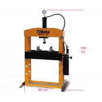 BETA 3027 10 hydraulinen puristin liikkuvalla männällä ja nostimella, manuaalinen 2-nopeuksinen pumppu. Suurin kapasiteetti 10t
