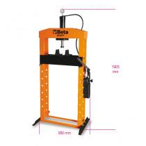 BETA 3027 20 hydraulinen puristin liikkuvalla männällä ja nostimella, manuaalinen 2-nopeuksinen pumppu. Suurin kapasiteetti 20t