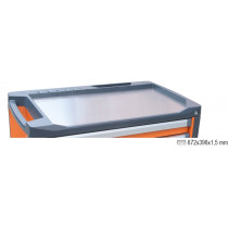BETA 3700/PLA Stainless steel worktop for mobile roller cab item C37