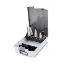 BETA 424/SP3 sarjassa kartioporanterät 3-kpl. HSS, (tuotteet 424/1+424/2+424/3) Koot Ø 3÷30mm. Karat Ø 6-8-10mm