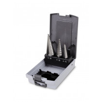 BETA 425/SP3 sarjassa porrasporanterät 3-kpl. HSS, (tuotteet 425/1+425/3+425/6) Koot Ø 4÷30mm. Karat Ø 6-10-10mm