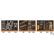 """Beta 5904VG/1M Työkaluvalikoimassa 76 kpl yleistyökaluja foam paneelissa, 1/2"""" vääntiö"""