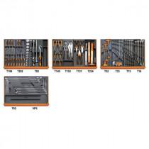 Beta 5904VG/3T työkalulajitelma 132-osaa lämpömuovatuissa paneeleissa