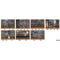 Beta 5908VI/2T työkalulajitelma 232-osaa lämpömuovatuissa paneeleissa, kierteitystyökalut