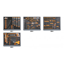 BETA 5935 VI/2MB Assortment of 133 tools for tool chest C35, in soft foam trays