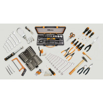 """Beta 5940SBK srajassa 125 työkalua, kiintovaimet, kiintolenkkiavaimet, hylsysarja 1/2-vääntiöllä, pihtejä, lyöntityökalut, meisseleitä, kärkiä ja momenttiavain vääntiöllä 3/8 """", Nm 8 ÷ 60"""