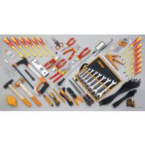 BETA 5980ET/B työkalulajitelma 64-osaa mukana suojaeristettyjä työkaluja 1000V ja nippusiteitä
