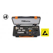 """Beta tools 671B/C5  """"BREAK-BACK"""" -mallinen varresta taittuva momenttiavainsarja 13-osaa, Nm 1÷5"""