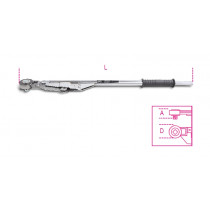 """BETA TOOLS 677/C150 """"BREAK-BACK"""" -mallinen varresta taittuva mekaaninen momenttiavain salkussa, oikea- ja vasenkätinen säätöalue Nm 500÷1000"""