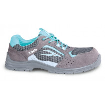 BETA 7212LG Women's suede shoe, perforated, with mesh inserts.