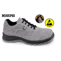 BETA 7319ESD 36-SUEDE SHOE, PERFORATED.