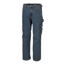 BETA 7525 M-WORK JEANS IN STRETCH DENIM.