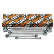 BETA 95FTX/S4 litteä lenkkiavain Torx® pulteille, sarja pakkauksessa(TUOTE  95FTX) 4-avainta, koot E6xE8-E10xE12 E14xE18-E20xE24