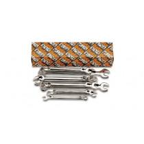 BETA 42LMP/S18 yhdistelmäavainsarja, sarjassa 18-avainta, pitkät 8-9-10-11-12-13 14-15-16-17-18-19 21-22-24-27-30-32 mm