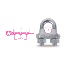 BETA 8016-2K 10-WIRE ROPE CLIPS STEEL 2PCS