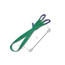 BETA 8153 1,5-T2 silmukkanostovyö 2T, värikoodattu vihreä, kaksi kerrosta vahvistetuilla, kavennetuilla silmukoilla, erittäin luja polyesteri (PES) WLL ton 2, pituus 1,5m