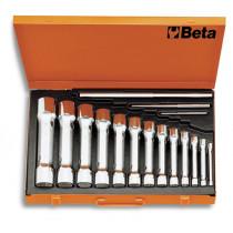 BETA 930/C13 putkihylsyavain, varrellinen, sarja 13 kpl metallilaatikossa, koot 6x7-8x9-10x11-12x13 14x15-16x17-18x19 20x22-21x23-24x26 25x28-27x29-30x32 mm 940/1 - /2 - /3