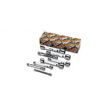 BETA 930/S13 sarjassa 13kpl putkihylsyavaimia (TUOTE 930) pakkauksessa, koot 6x7-8x9-10x11-12x13 14x15-16x17-18x19 20x22-21x23-24x26 25x28-27x29-30x32 mm ja vääntimet 940/1 - /2 - /3