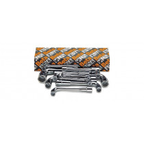 BETA 932/S11 sarjassa varrellisia putkiavainhylsyavaimia (TUOTE  932) laatikossa, 11 kpl