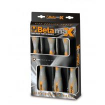 BETA TOOLS 944BX/D6  kuusikulmaiset hylsymeisselit (ITEM944BX) pakkauksessa, 6 avainta