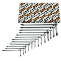 BETA TOOLS 951TX/S13 T-kahvasarjassa 13 avainta kolmella kuusikulmaisella TX Torx® avaimella