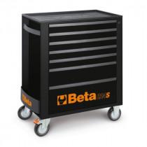 Beta Tools C24S/7-N liikuteltava työkaluvaunu 7:llä laatikolla, MUSTA