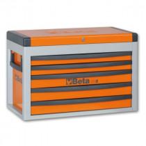 BETA C23S-O siirreltävä työkaluarkku avattavalla kannella ja 5:llä laatikolla