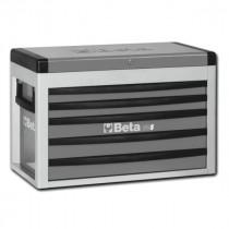 BETA C23S-G siirreltävä työkaluarkku avattavalla kannella ja 5:llä laatikolla