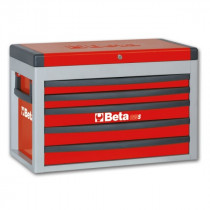 BETA C23S-R siirreltävä työkaluarkku avattavalla kannella ja 5:llä laatikolla