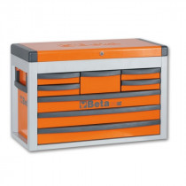BETA C23SC-O siirreltävä työkaluarkku avattavalla kannella ja 8:lla laatikolla
