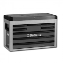 BETA TOOLS C23SC-G  siirreltävä työkaluarkku avattavalla kannella ja 8:lla laatikolla