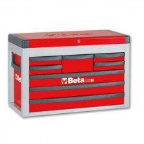BETA TOOLS C23SC-R  siirreltävä työkaluarkku avattavalla kannella ja 8:lla laatikolla