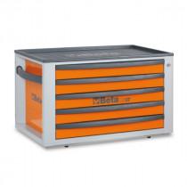 BETA C23ST-O siirreltävä työkalulaatikosto 5:llä laatikolla, voidaan asentaa vaunujen C24S päälle