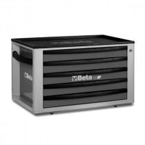 BETA C23ST-G siirreltävä työkalulaatikosto 5:llä laatikolla, voidaan asentaa vaunujen C24S päälle