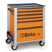 BETA C24S/6-O liikuteltava työkaluvaunu 6:lla laatikolla, oranssi