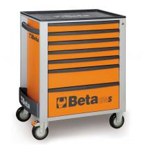 BETA C24S/7-O liikuteltava työkaluvaunu 7:llä laatikolla, oranssi