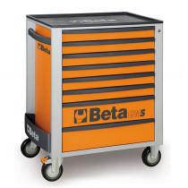 BETA C24S/8-O liikuteltava työkaluvaunu 8:lla laatikolla, oranssi