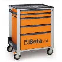 BETA TOOLS C24S/5-O  liikuteltava työkaluvaunu 5:llä laatikolla