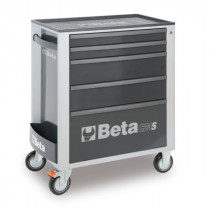 BETA C24S/5-G liikuteltava työkaluvaunu 5:llä laatikolla, harmaa