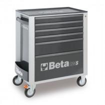 BETA C24S/6-G liikuteltava työkaluvaunu 6:lla laatikolla, harmaa