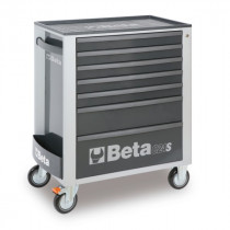 BETA C24S/7-G liikuteltava työkaluvaunu 7:llä laatikolla, harmaa